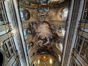 fresco techo iglesia del gesù