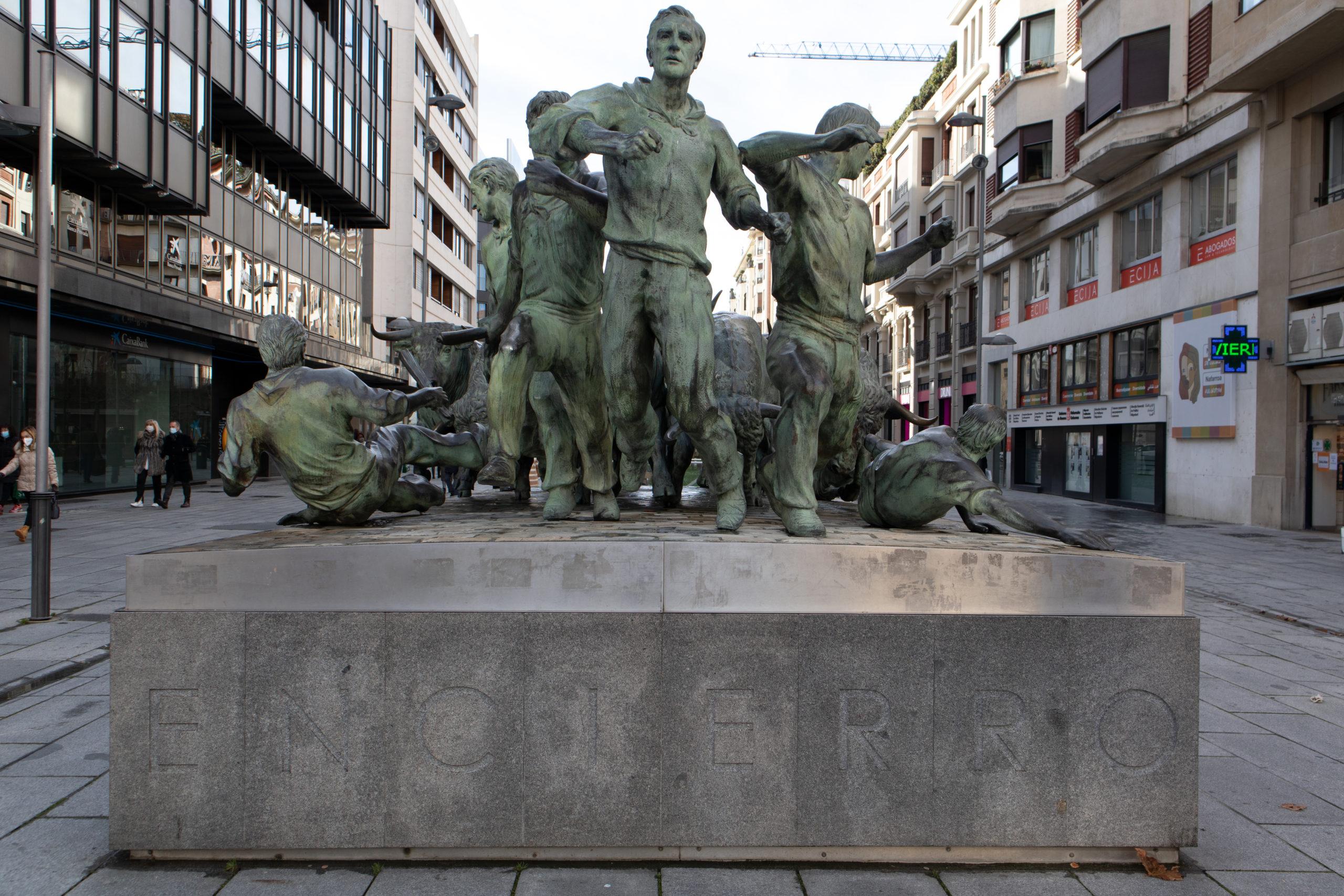 estatua-encierro-san-fermin